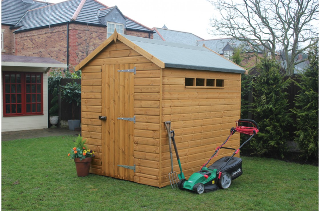 Security apex for Garden shed security